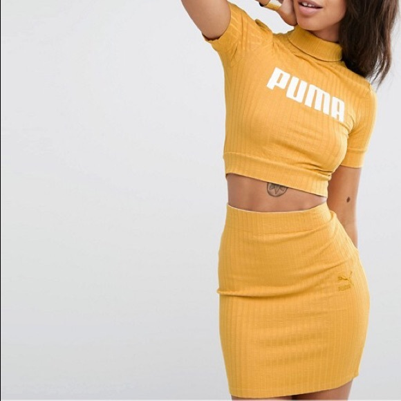 3488a664ae Puma Exclusive to ASOS Crop top + Matching Skirt